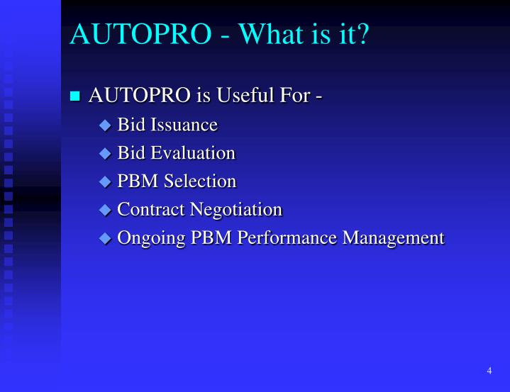 AUTOPRO - What is it?