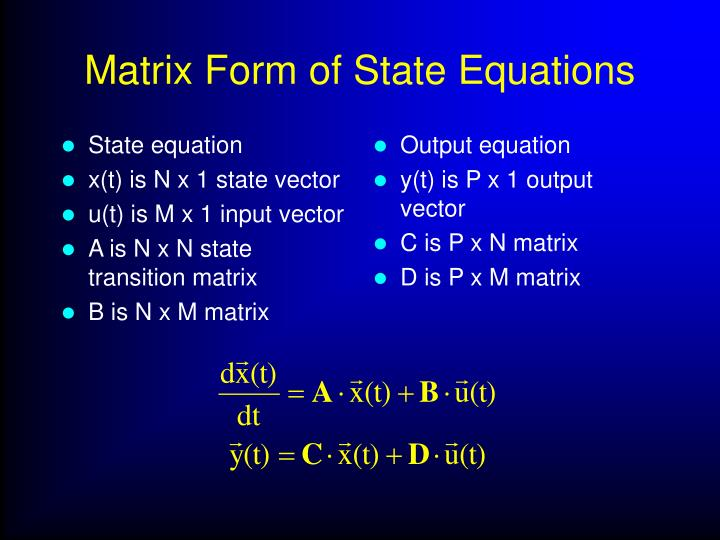 State equation