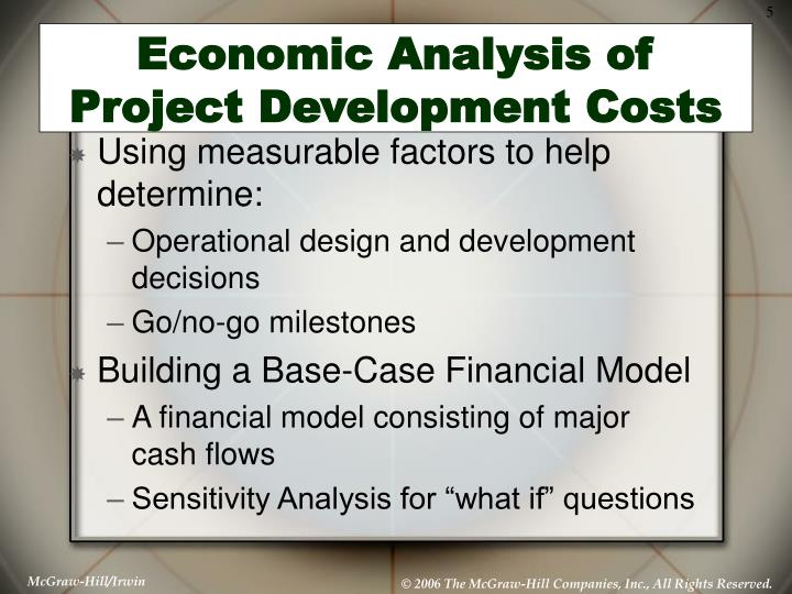 Economic Analysis of Project Development Costs