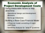 economic analysis of project development costs