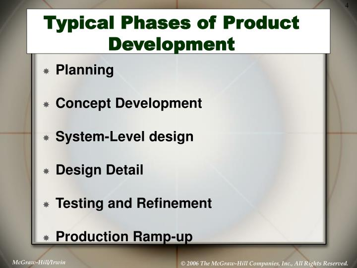 Typical Phases of Product Development