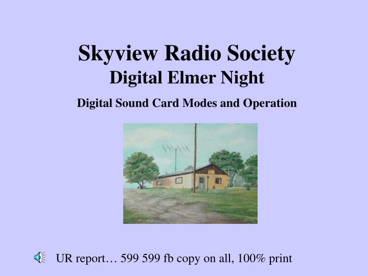 Skyview Radio Society