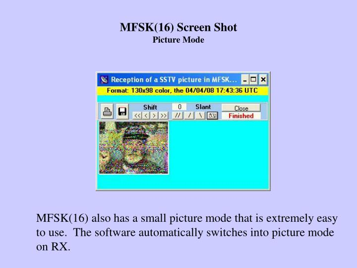 MFSK(16) Screen Shot