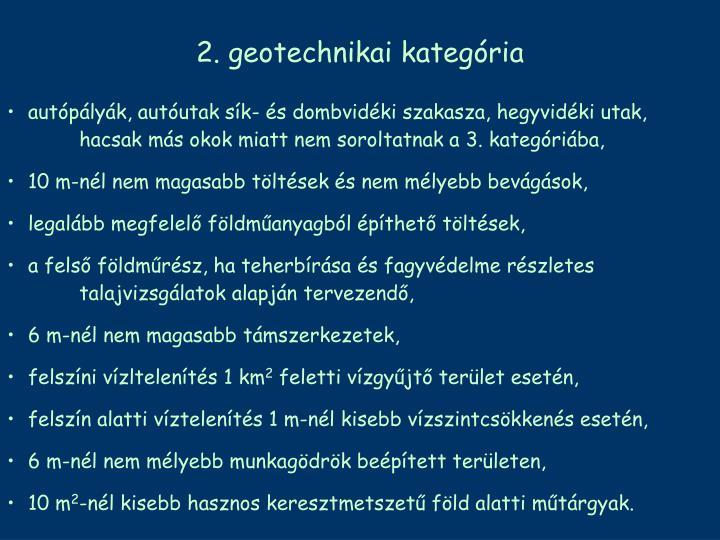 2. geotechnikai kategória