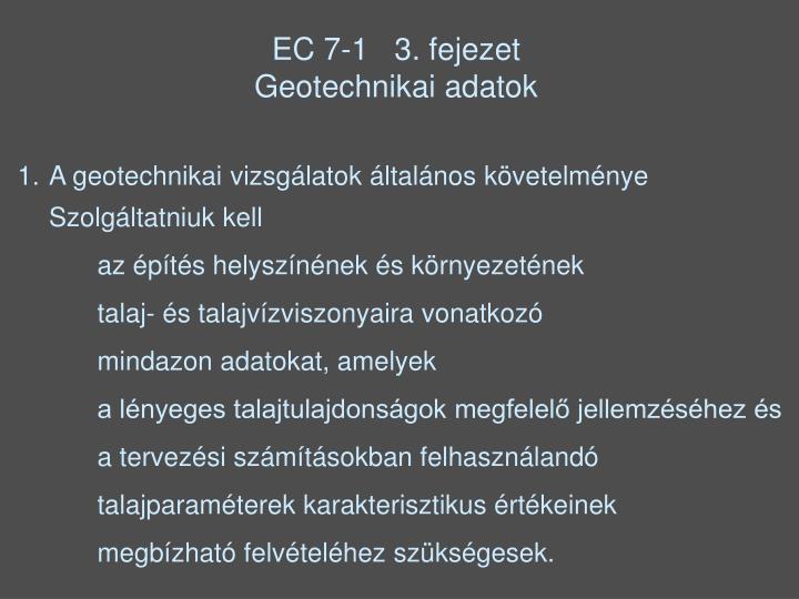EC 7-1   3. fejezet