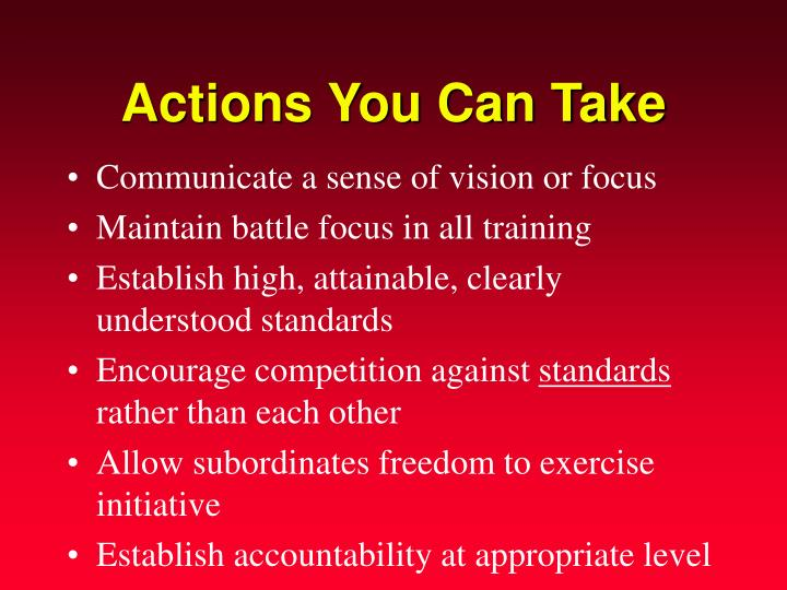 Actions You Can Take