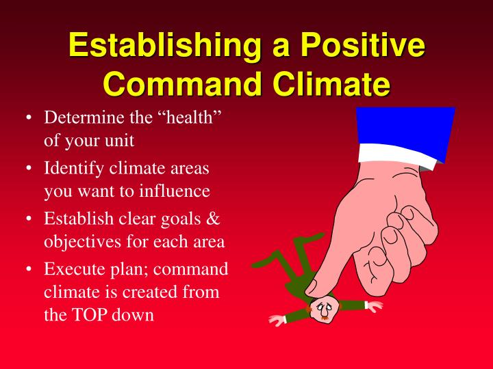 Establishing a Positive Command Climate