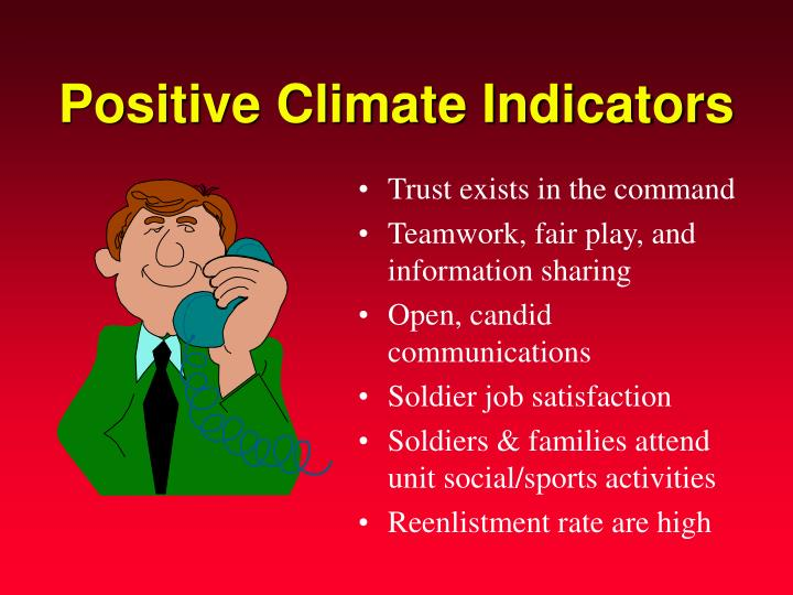 Positive Climate Indicators