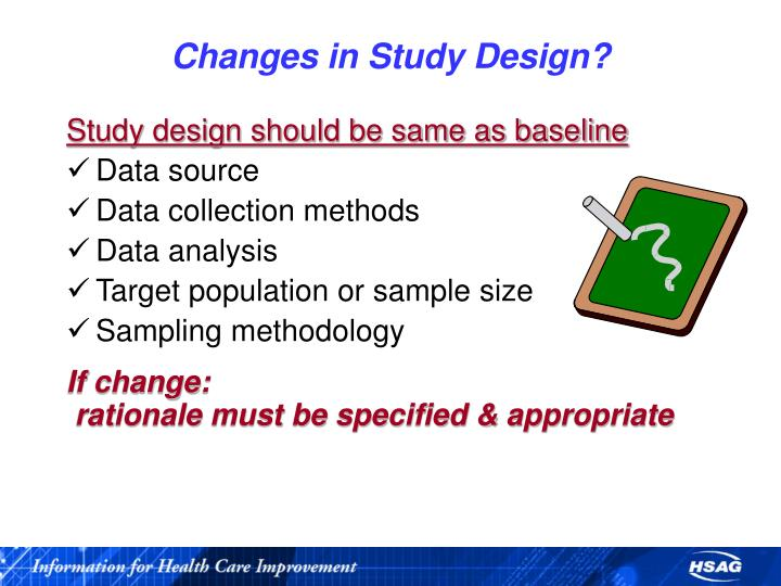 Changes in Study Design?