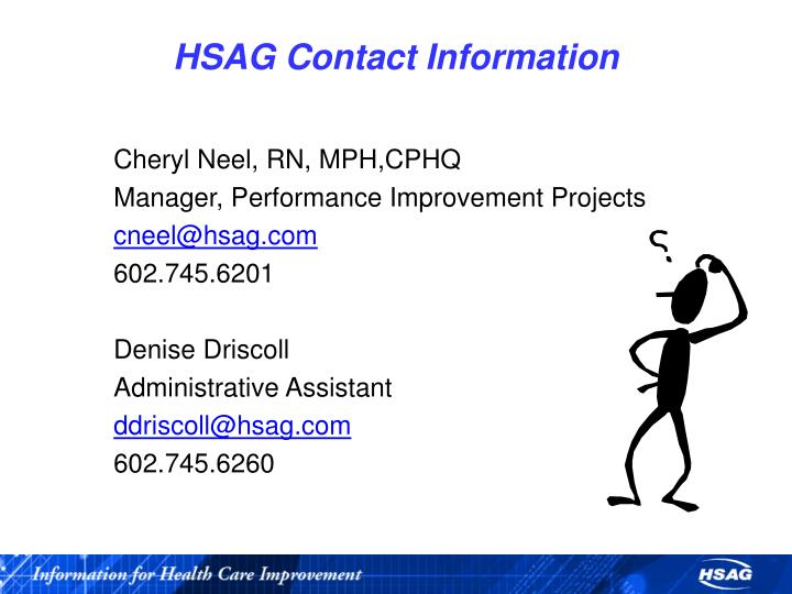 HSAG Contact Information