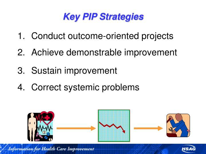 Key PIP Strategies