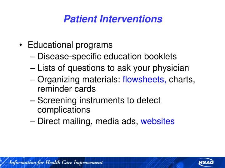 Patient Interventions