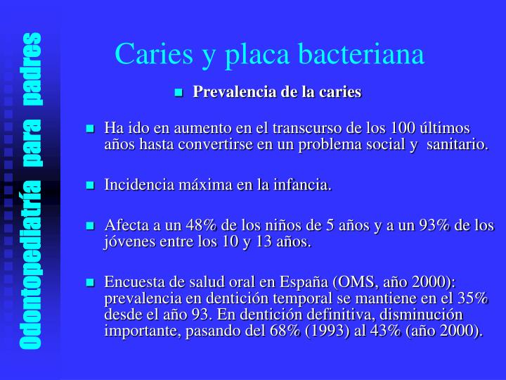 Caries y placa bacteriana
