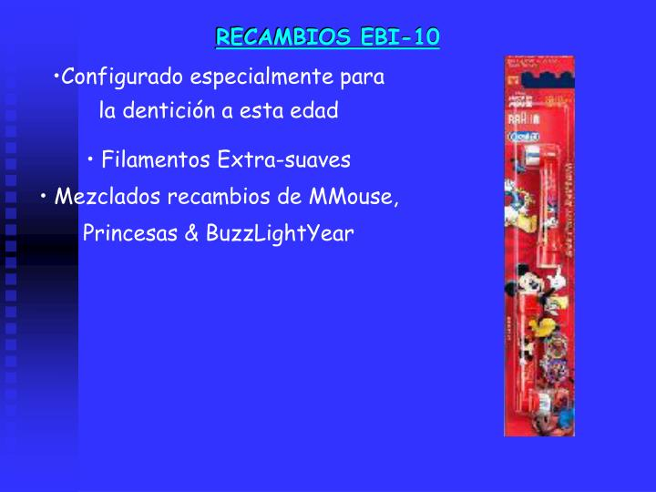 RECAMBIOS EBI-10
