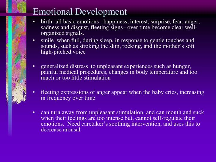 Emotional Development