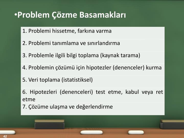 Problem Çözme Basamakları