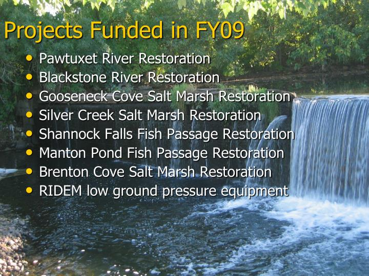 Projects Funded in FY09