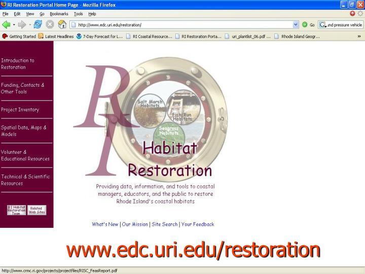 www.edc.uri.edu/restoration