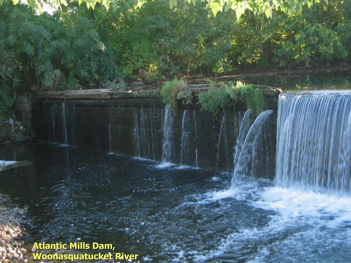 Atlantic Mills Dam, Woonasquatucket River