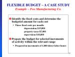 flexible budget a case study example fox manufacturing co2