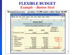 flexible budget example barton steel1