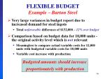 flexible budget example barton steel2