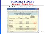 flexible budget example barton steel4