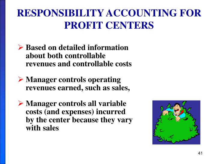RESPONSIBILITY ACCOUNTING FOR PROFIT CENTERS