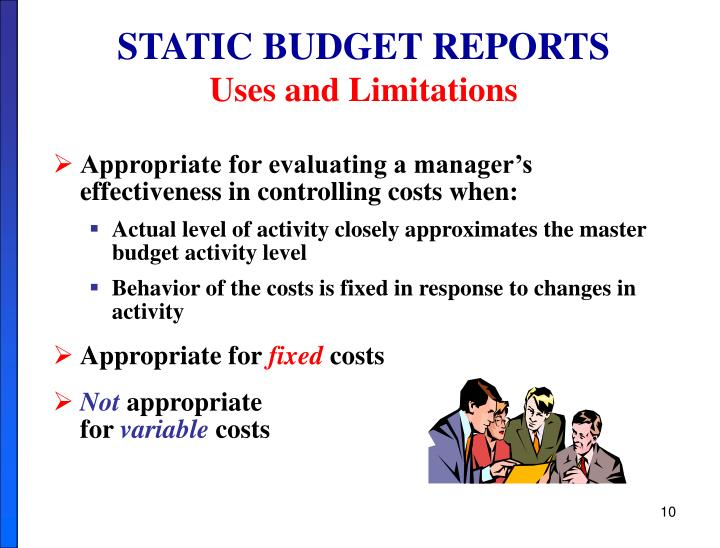 STATIC BUDGET REPORTS