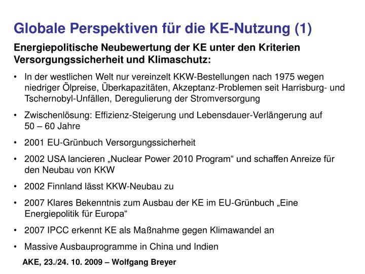 Globale Perspektiven für die KE-Nutzung (1)