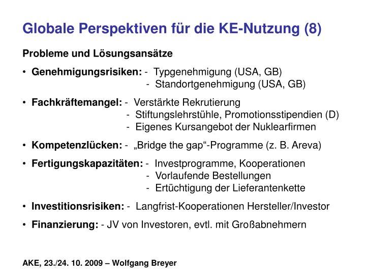 Globale Perspektiven für die KE-Nutzung (8)