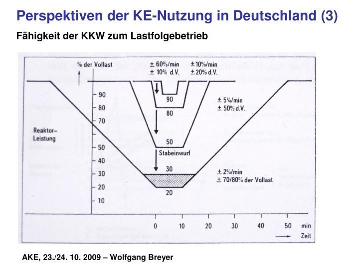 Perspektiven der KE-Nutzung in Deutschland (3)