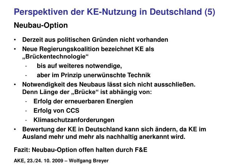 Perspektiven der KE-Nutzung in Deutschland (5)