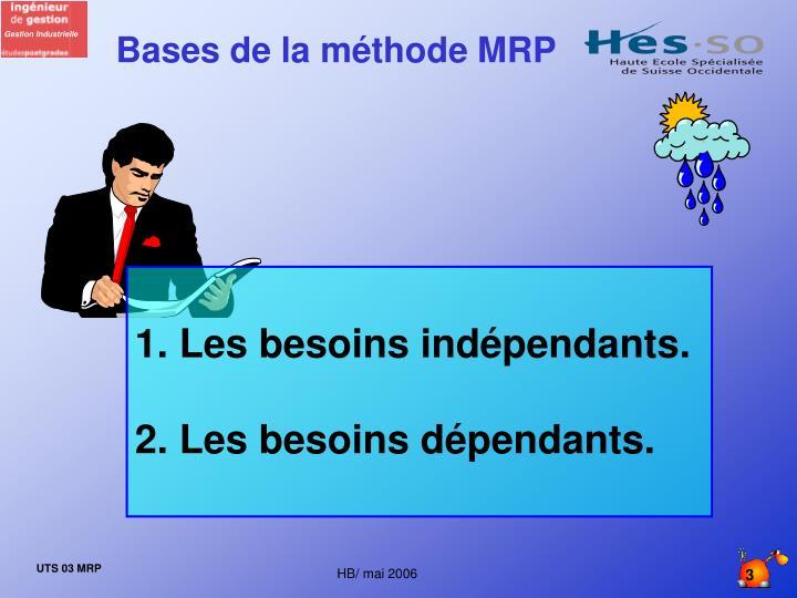 Bases de la méthode MRP