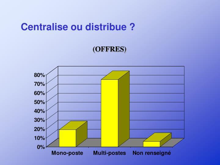 Centralise ou distribue ?