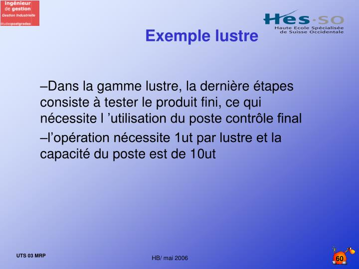Exemple lustre