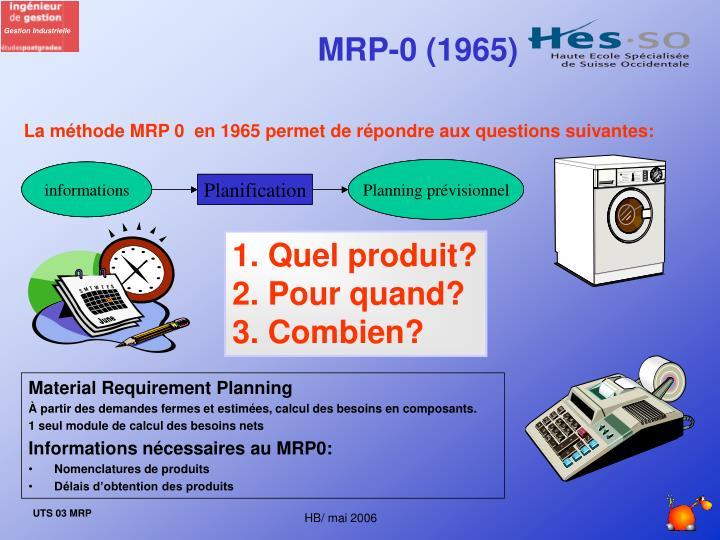 MRP-0 (1965)