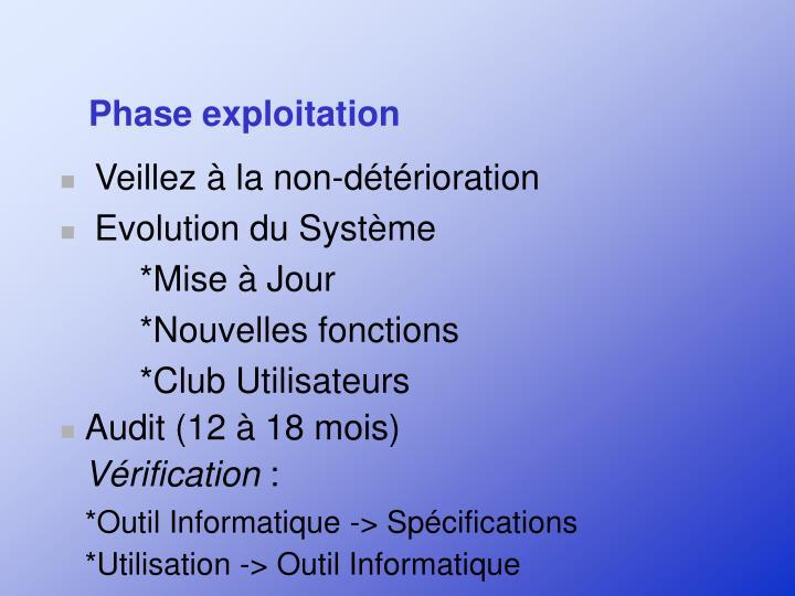 Phase exploitation