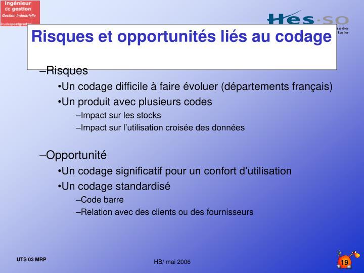 Risques et opportunités liés au codage