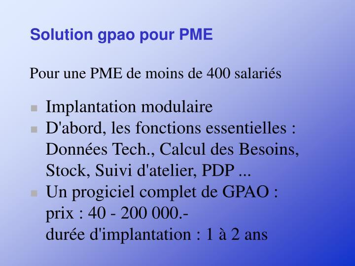 Solution gpao pour PME