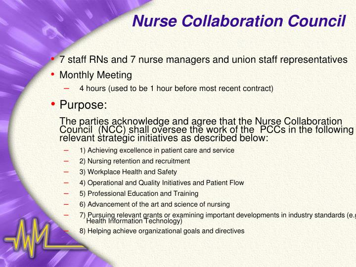 Nurse Collaboration Council