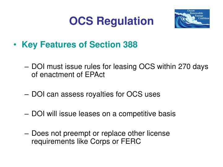 OCS Regulation