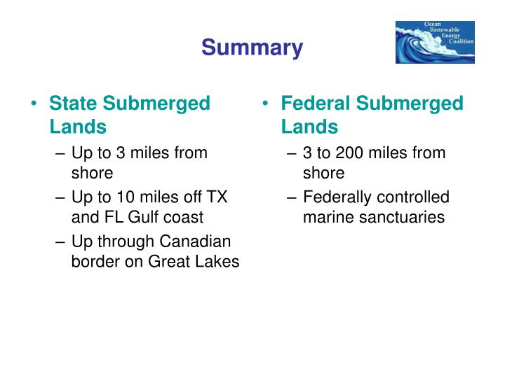 State Submerged Lands