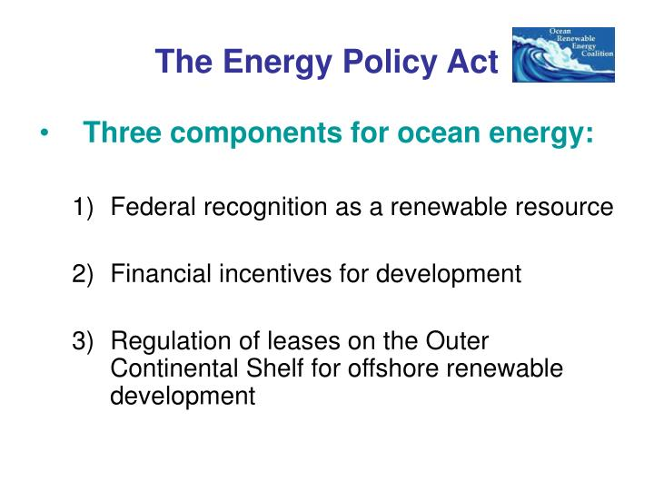 The Energy Policy Act