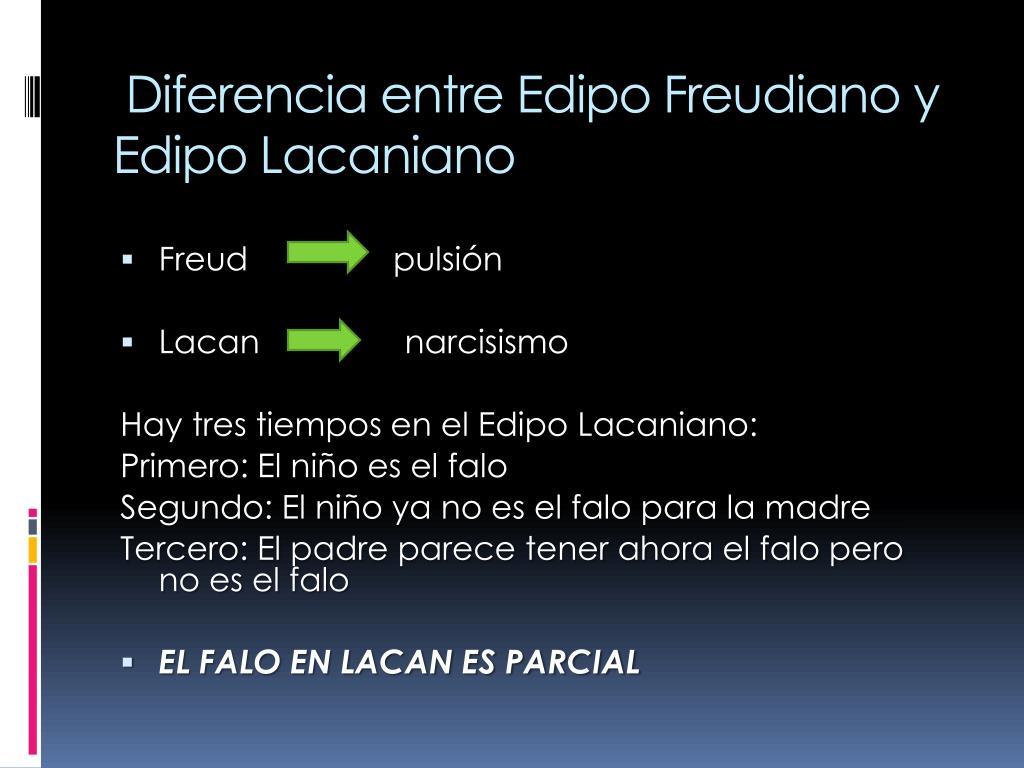 Diferencia entre Edipo Freudiano y Edipo