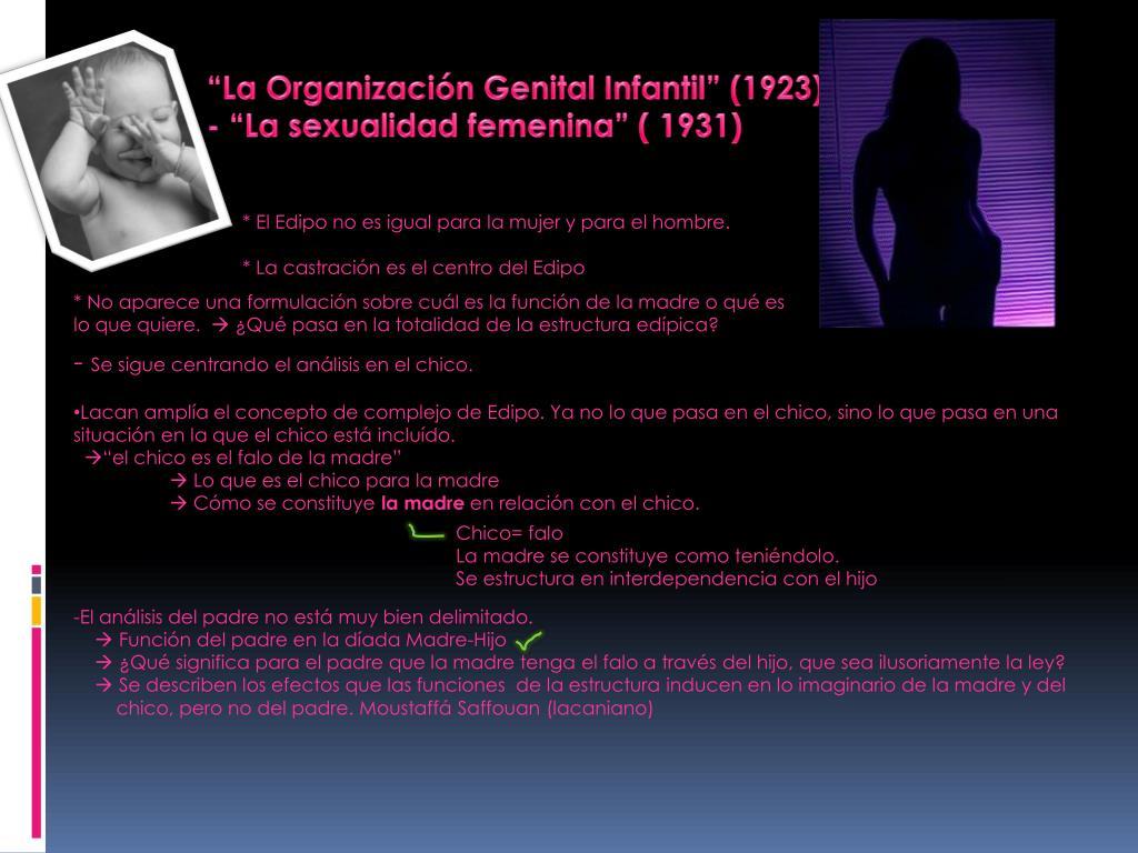 """""""La Organización Genital Infantil"""" (1923)"""