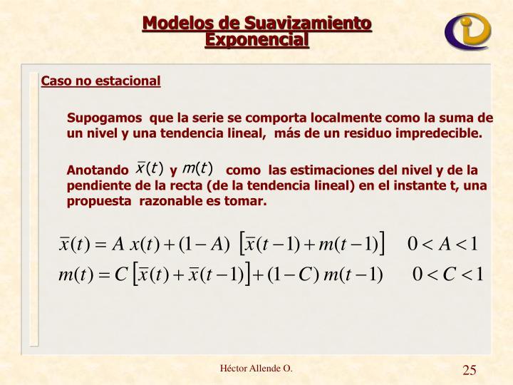 Modelos de Suavizamiento Exponencial