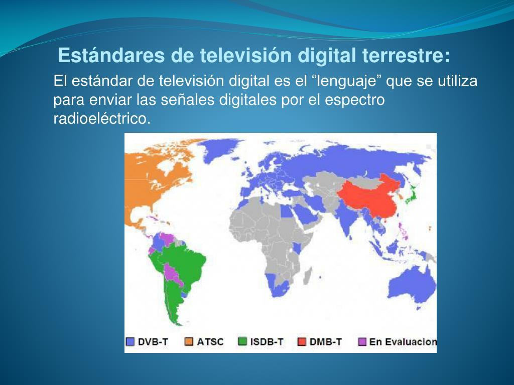 """El estándar de televisión digital es el """"lenguaje"""" que se utiliza para enviar las señales digitales por el espectro radioeléctrico."""
