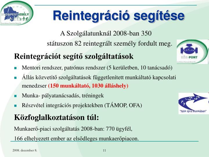 Reintegráció segítése