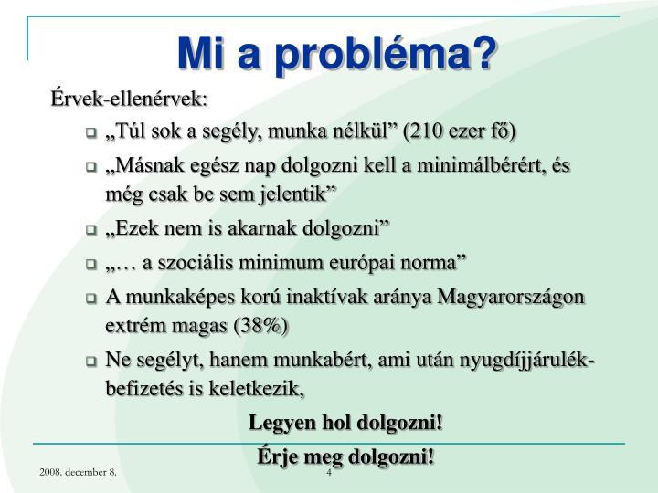 Mi a probléma?
